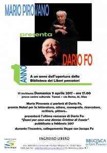 PIROVANO_DARIO-FO_1-compleanno-Biblioteca2017_Locandina