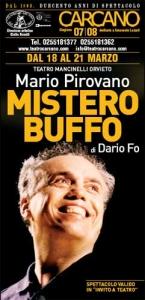 Mario Pirovano al Teatro Carcano