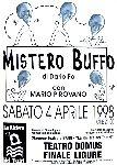 Mario Pirovano, Manifesto di \'Mistero Buffo\', 1998