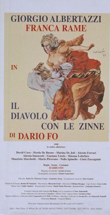 Manifesto per 'Il diavolo con le zinne', 1997