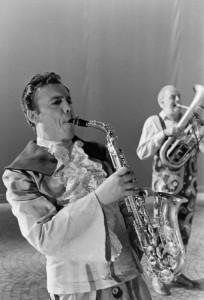 Mario Pirovano e Dario Fo in 'Trasmissione Forzata', 1988