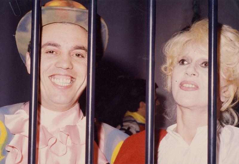 Mario Pirovano e Franca Rame in 'Trasmissione Forzata', 1988