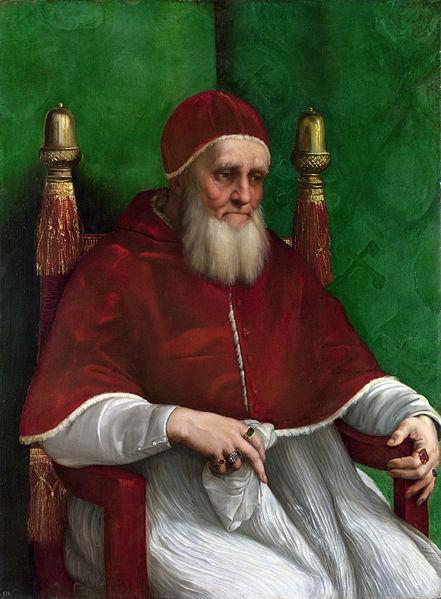 Papa Giulio II, ritratto di Raffaello