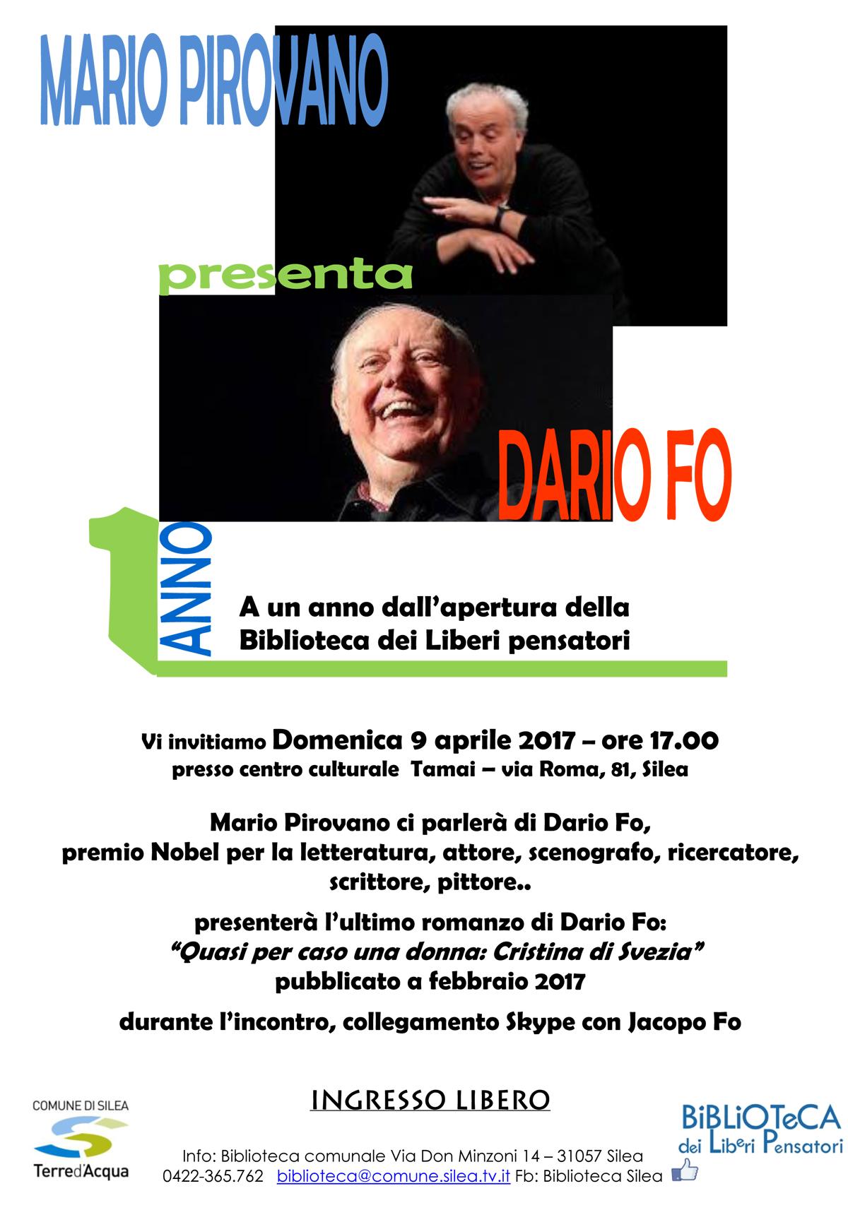 Mario Pirovano racconta Dario Fo Silea