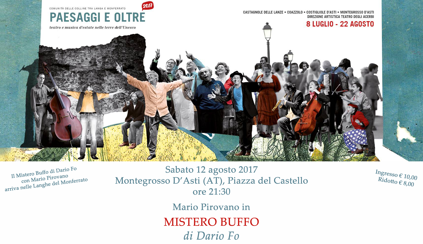 Mario Pirovano Mistero Buffo Dario Fo Montegrosso D'Asti