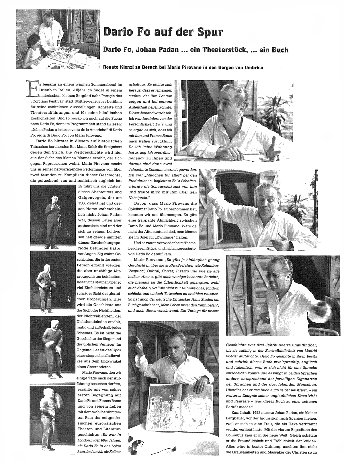 Mario Pirovano LU SANTO JULLARE FRANCESCO di Dario Fo
