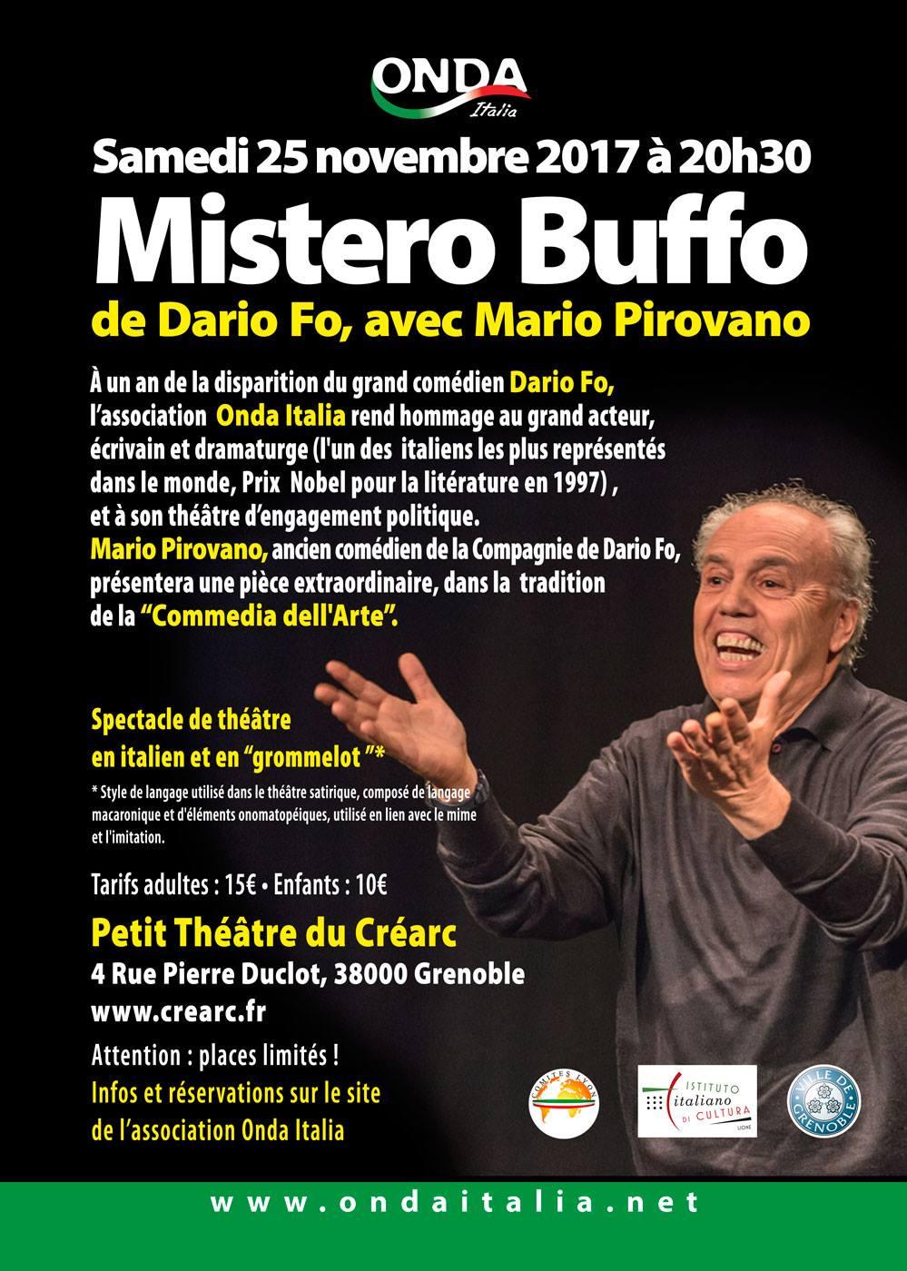 Mario Pirovano Mistero Buffo Dario Fo Troina Sicilia